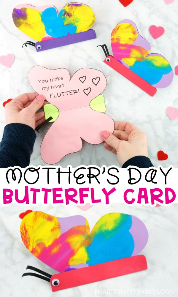 How to Make a Butterfly Card with colorful Paint Smash