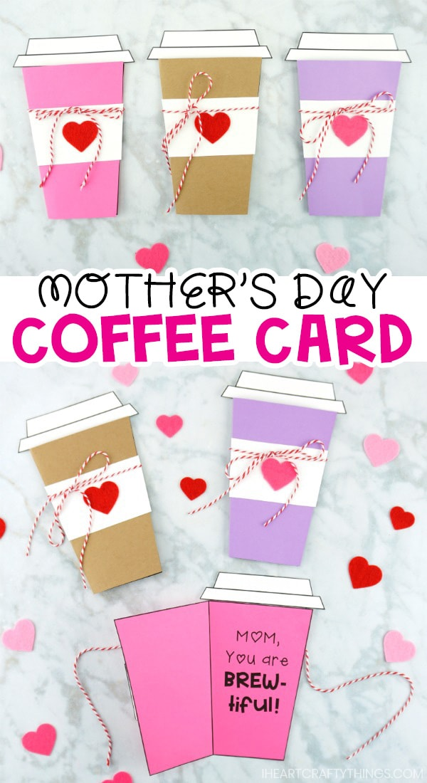 Mother S Day Coffee Card Template