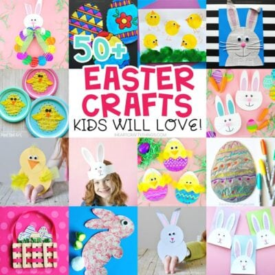 50+ Easy Easter Crafts for Kids -Fun and simple arts and crafts ideas for toddlers, preschoolers and kids of all ages for Easter.