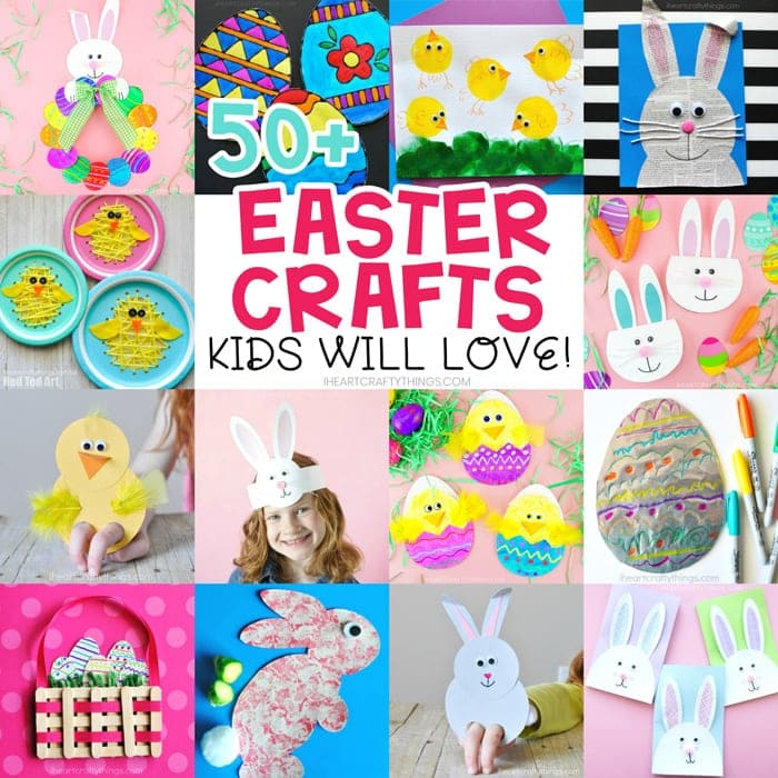 Easy Easter Paper Plate Crafts Fun Easter Puppets For Kids