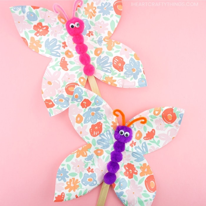 Paper Plate Butterfly Craft Creative And Easy Craft For Kids