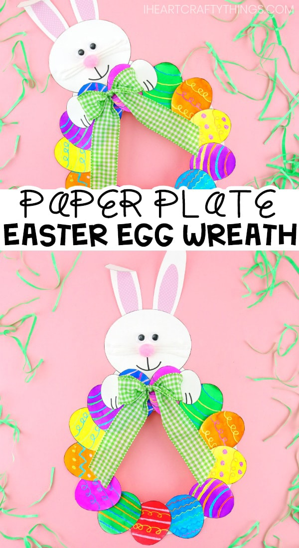 How To Make A Paper Plate Easter Egg Wreath Easy Easter