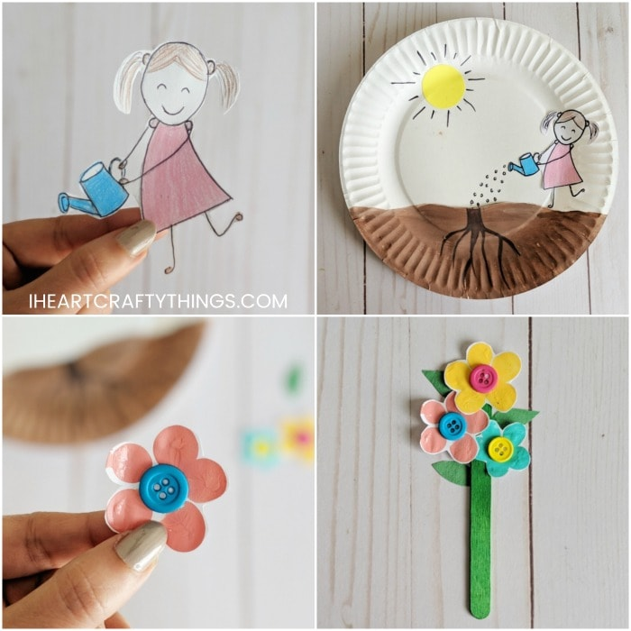 Paper Plate Growing Flower Craft