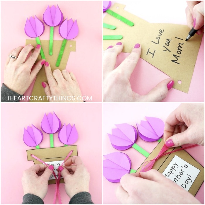 Mother S Day Flower Pot Craft Easy Gift For Kids To Make For Mom