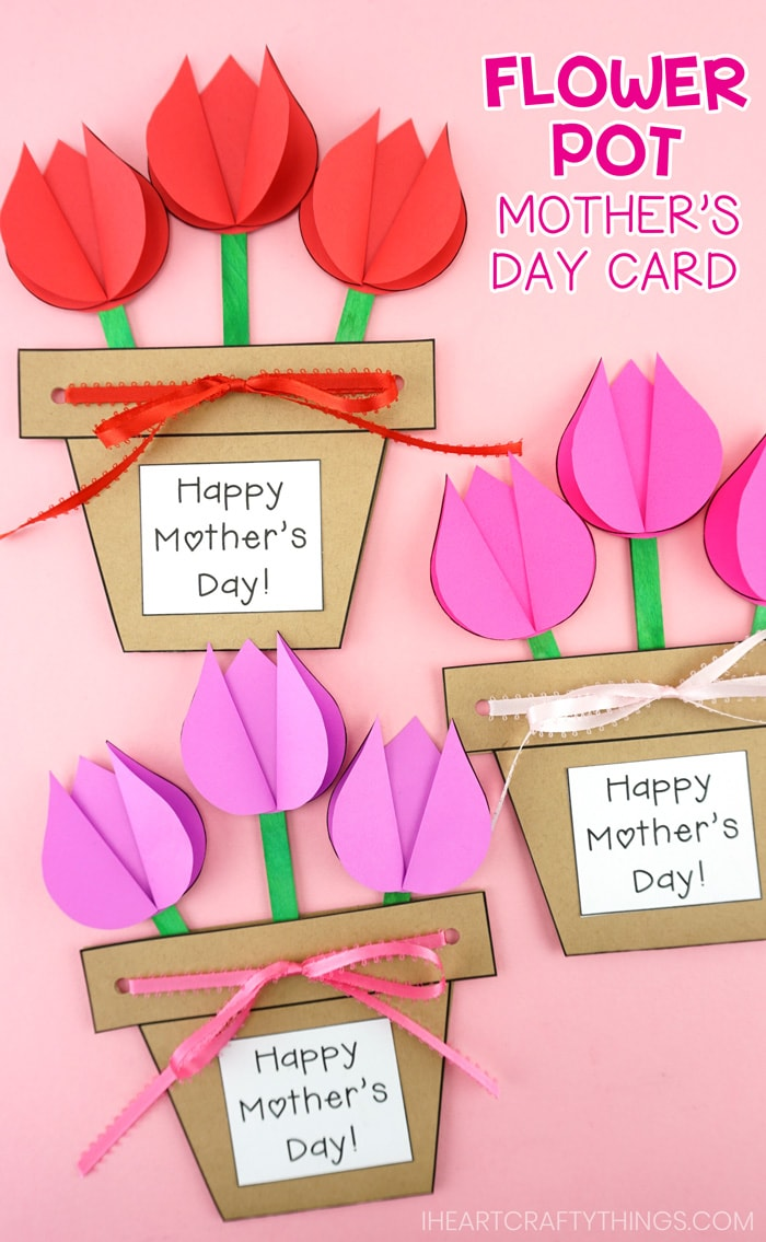 mother's day flower pot craft easy gift for kids to make