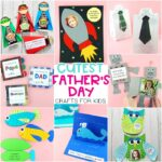 The Best Father's Day crafts for kids to make– simple and easy craft and card ideas for toddlers and preschoolers for Father Day with free printables.