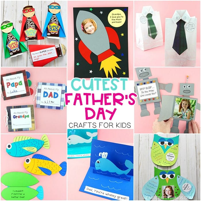 Father's Day Crafts for Kids -Easy to make card ideas and gifts ...