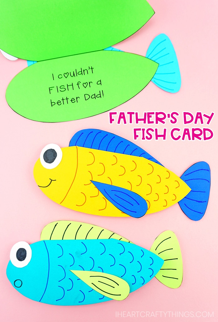 a card for your favorite fisherman Men and Fish Are Alike Greeting card for Papa Funny fishing birthday card Father/'s Day Fishing Card