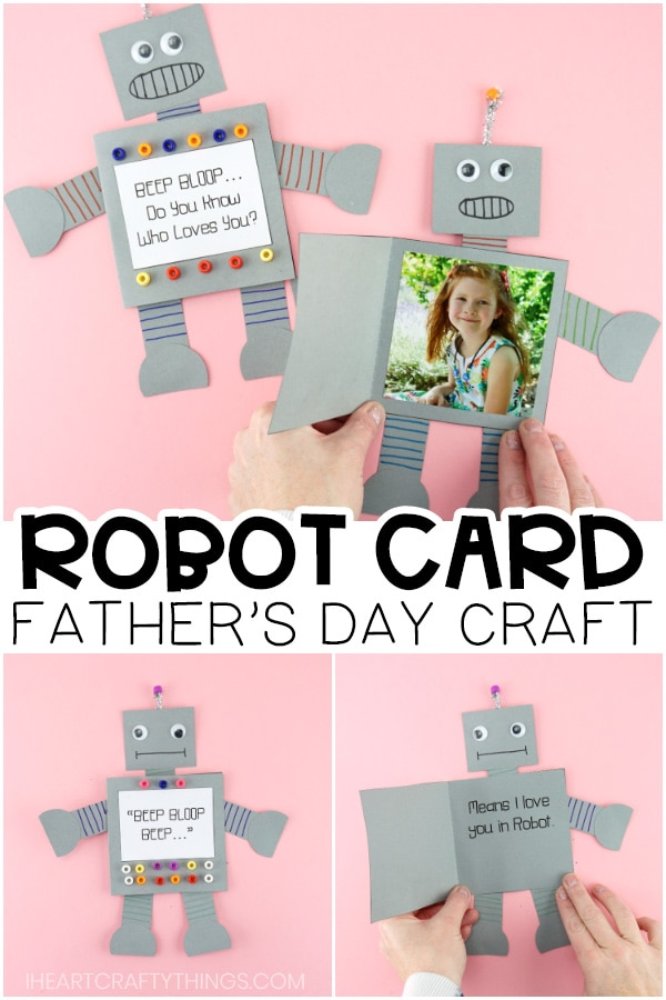How To Make A Paper Robot Easy Father S Day Card Idea For Kids