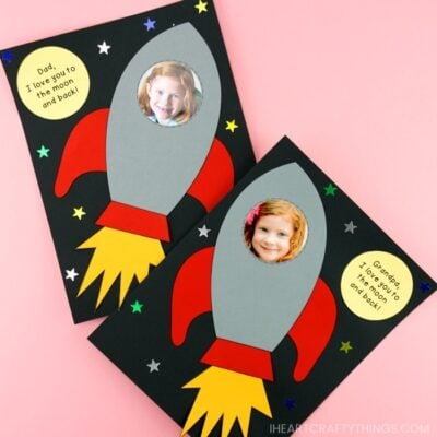Easy Rocket Ship Father's Day Craft Idea -Simple craft for preschoolers