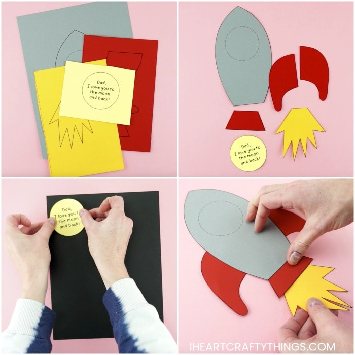 Easy Rocket Ship Father's Day Craft Idea -Simple craft for