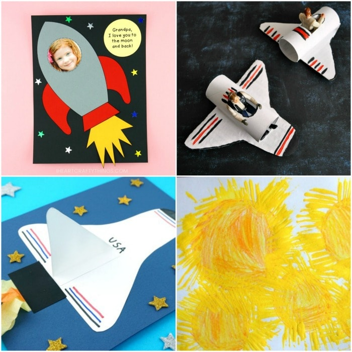 15+ Space Crafts for Kids -Easy crafts for preschoolers and