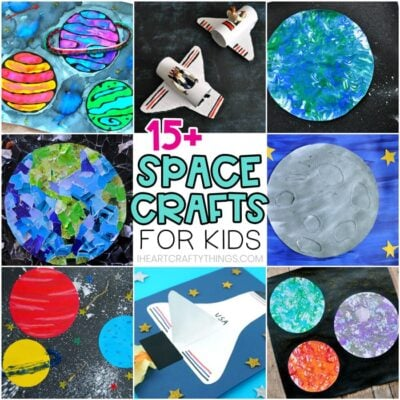 15+ amazing space crafts for kids -Fun and easy outer space arts and crafts activities for preschoolers. Kids will love these simple solar system crafts.
