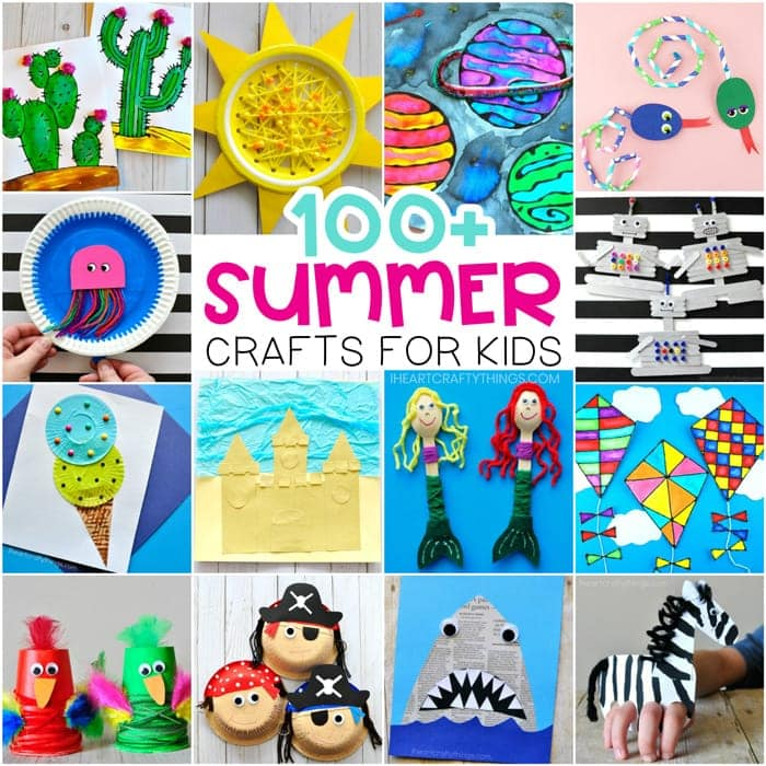 Summer crafts for Kids - Easy arts and crafts ideas and summer activities. Animal crafts, ocean crafts, pirates and mermaids, beach crafts and more.