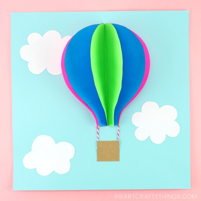 photograph regarding Balloon Templates Printable referred to as Paper Sizzling Air Balloon -Straightforward, colourful summertime youngsters craft!