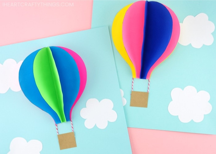 picture relating to Balloon Templates Printable known as Paper Sizzling Air Balloon -Very simple, vibrant summer season little ones craft!