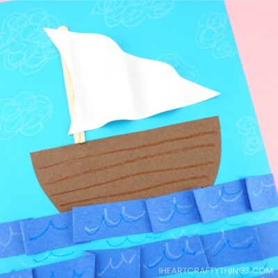Easy Paper Boat Craft for kids -Fun Summer Craft idea with Template