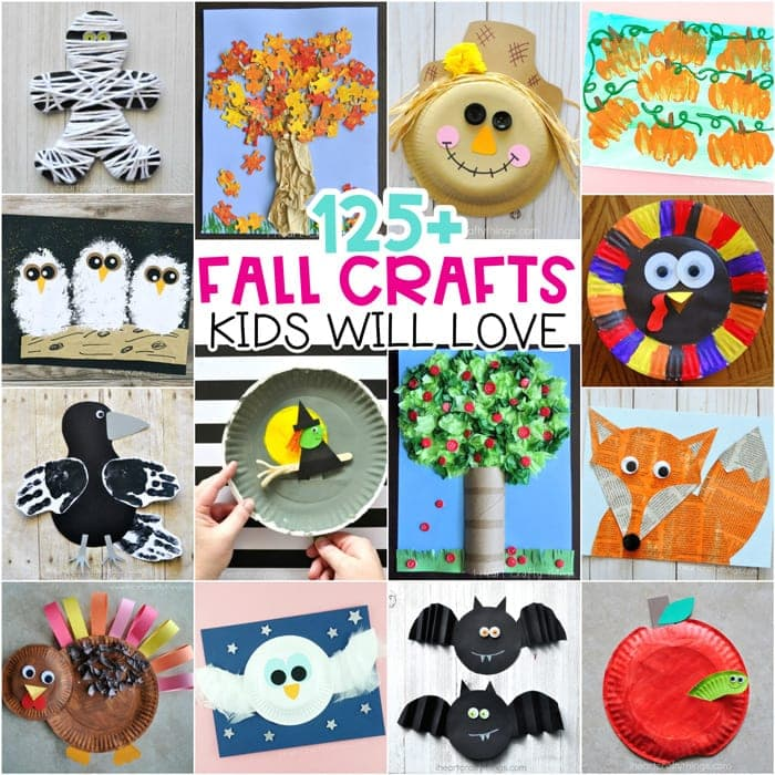 Easy Fall Crafts For Kids 100 Arts And Ideas