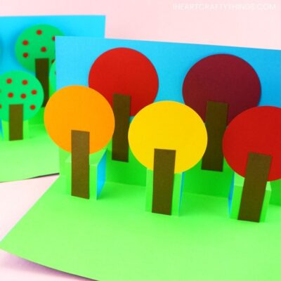 Fall Pop Up Tree Card – Easy Paper Craft for Kids!