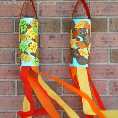 Fall Windsock Craft for Kids -Easy fall craft for preschoolers!