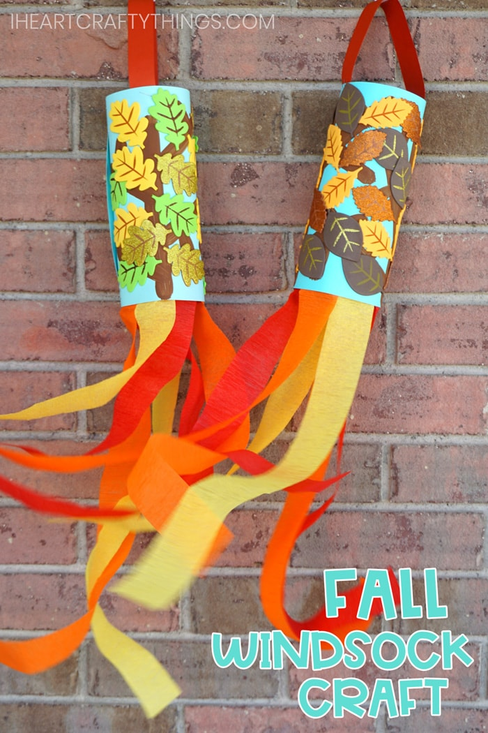 Fall Windsock Craft For Kids Easy Preschoolers I Heart Crafty Things