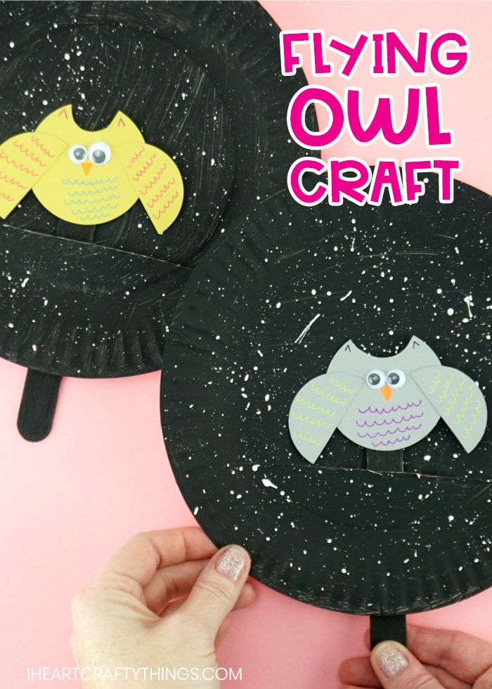 Flying Owl Craft Fun Fall Paper Plate Craft For Kids