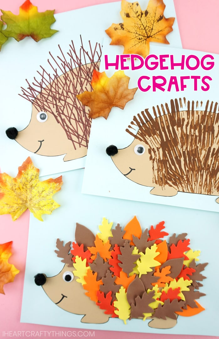 Free Hedgehog Template 3 Cute Ways To Make Hedgehogs For Fall