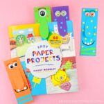 Super easy DIY monster bookmarks. Use our free template to make a colorful big-nosed monster bookmark. Fun Halloween craft for kids and paper crafts.