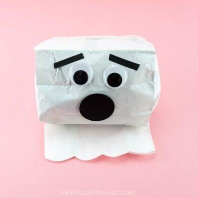 Simple Paper Bag Ghost Craft
