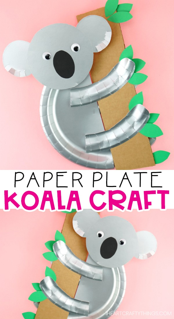 Koala Printable Template Easy Paper Plate Craft For Kids