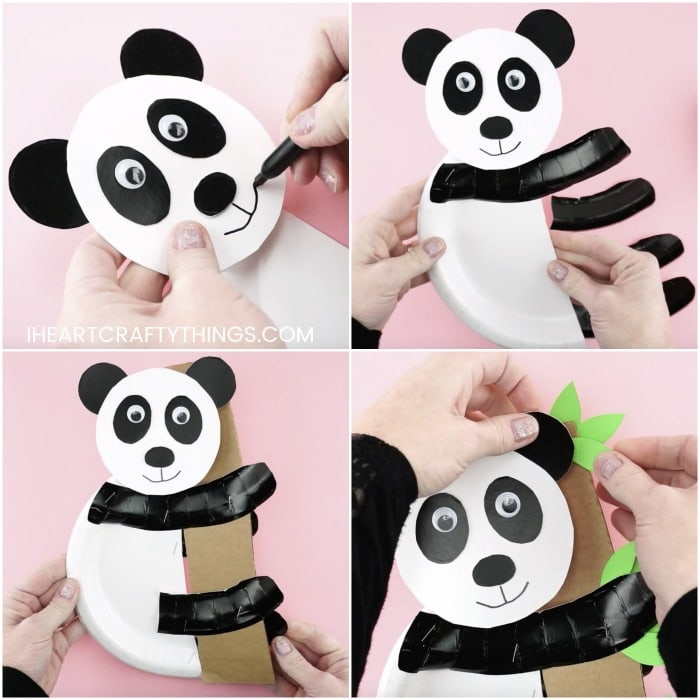 Panda mask video tutorial of how to make your paper animal mask in ... | 700x700