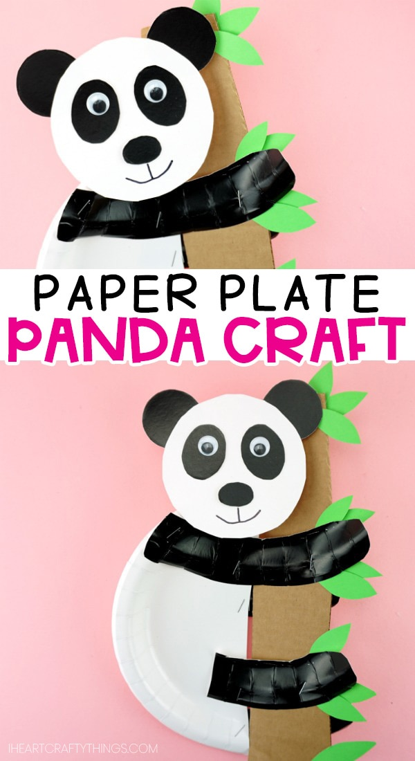 Paper Plate Panda Bear Craft Free Easy Template For Kids To Use