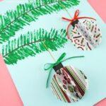 3D paper ornaments craft project