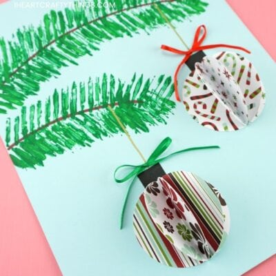3D Paper Ornaments Craft Project