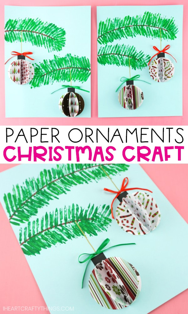 3d Paper Ornaments Craft Project Fun Christmas Craft For