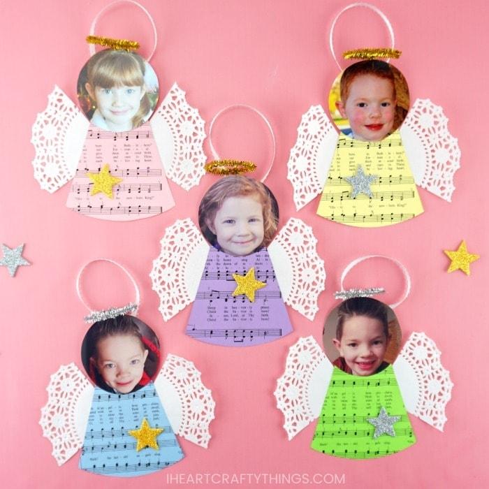 DIY angel ornaments