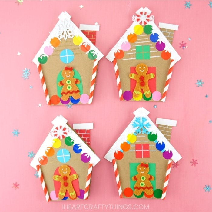 Gingerbread House Card Free Template