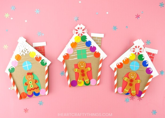 How to make a Gingerbread House Card for Christmas ,Free