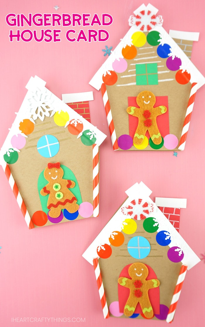 3D Paper Gingerbread House Craft. The kid will love making ... | 1112x700
