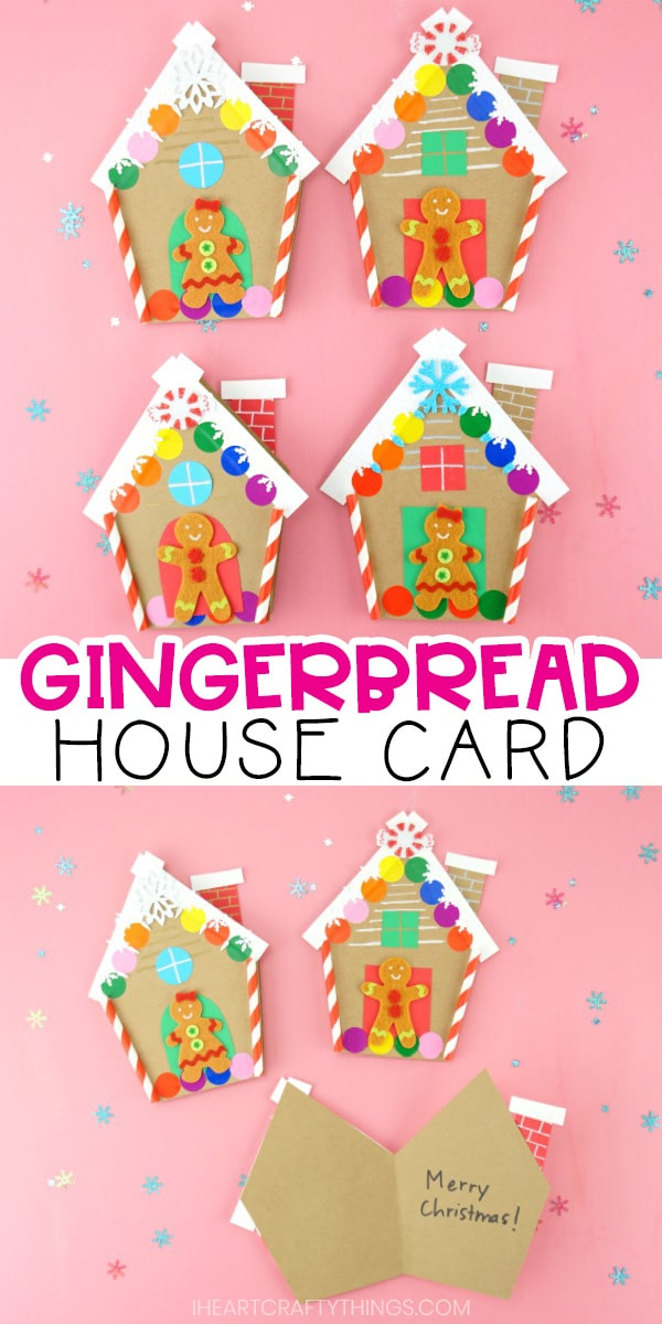 How To Make A Gingerbread House Card For Christmas Free