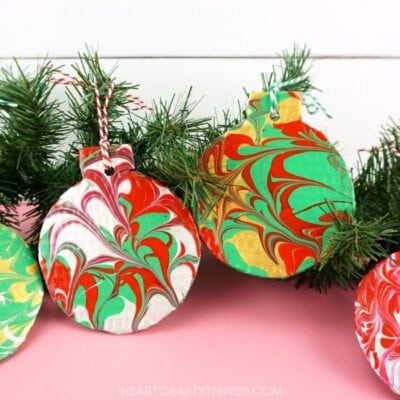 Marble Christmas Ornaments