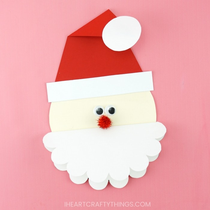 Cute Santa Card Free Template To Make This Homemade Christmas Card