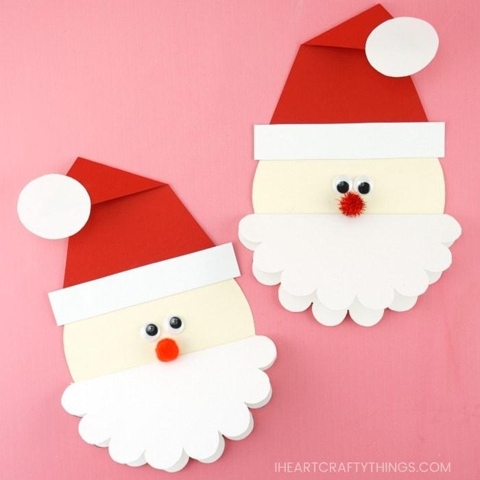 Cute Santa Card -Free Template to make this homemade ...