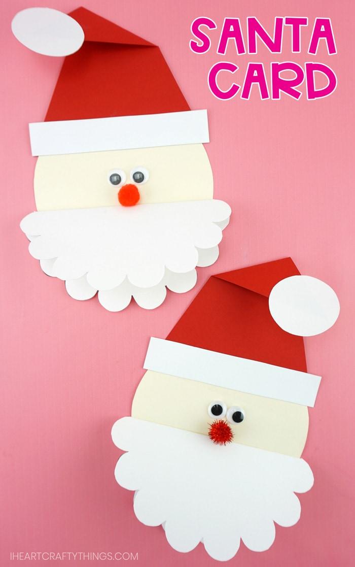 Cute Santa Card Free Template To Make This Homemade