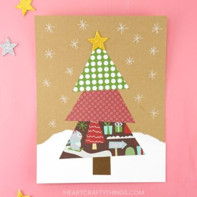 Paper Scrap Christmas Tree Craft