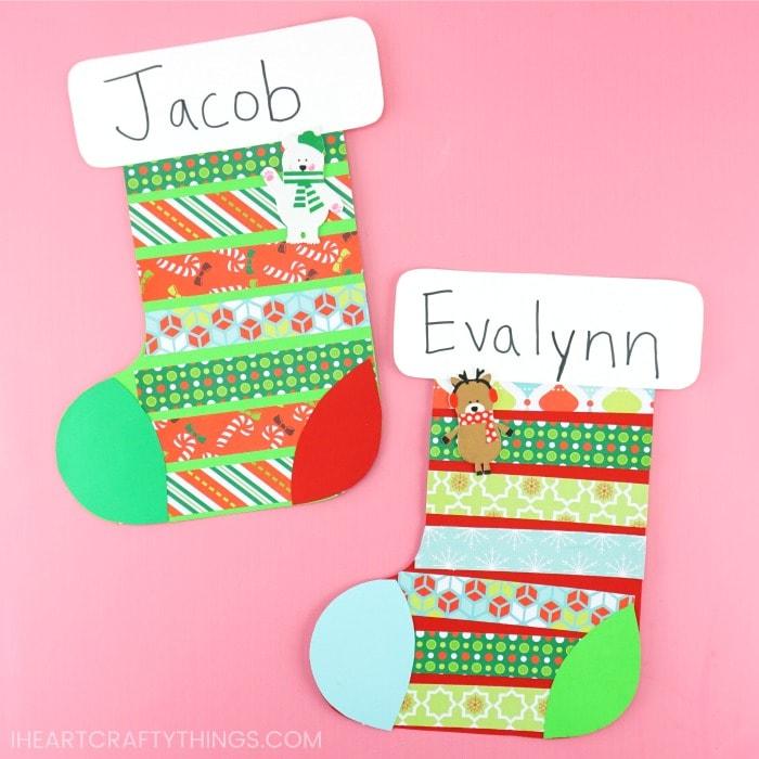 easy christmas stocking template  Christmas Stocking Craft | Easy Christmas craft for Preschoolers
