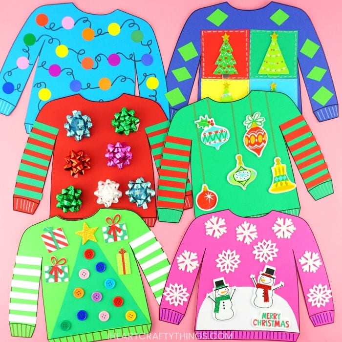 ugly Christmas sweater craft idea