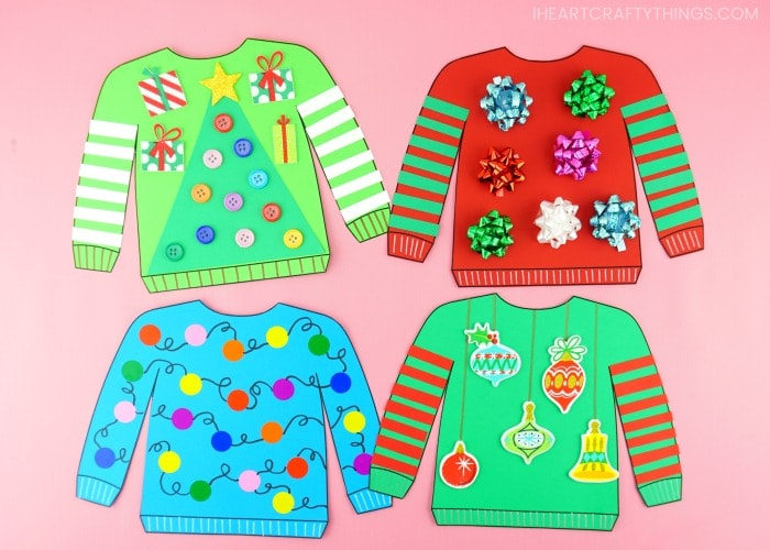 Best Ugly Christmas Sweater Craft Activity | Free Sweater