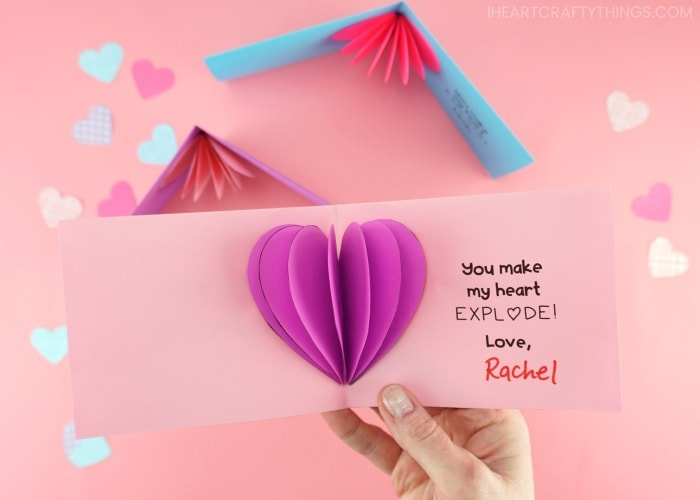The Cheese Thief: How to Make a Puffy Origami Heart Garland | 500x700