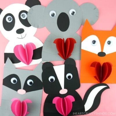 Animal Valentines Crafts